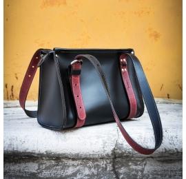 torba ręcznie robiona z naturalnej skóry Lili Mała idealna torebka na co dzień stylowa torba od Ladybuq Art Studio