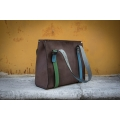 Big Lili Chocolate with straps in beautiful colours Ladybuq original bag unique tote shopper bag