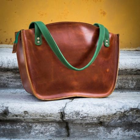 Skórzana torebka ręcznie szyta Ladybuq Art