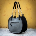 handmade natural leather bag Basia new size S with wider sides original ladybuq bag