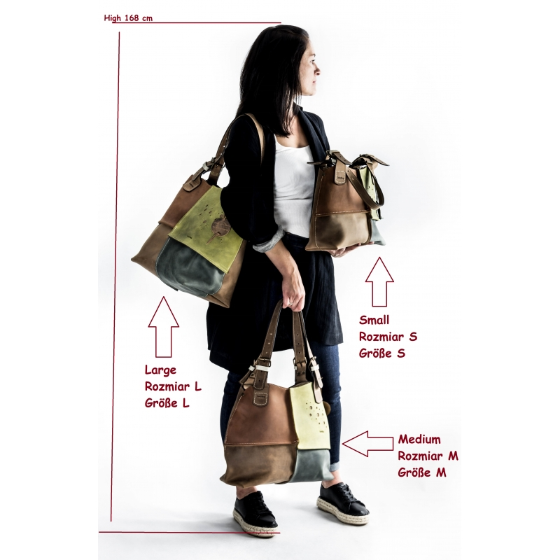 niepowtarzalna torba na ramię wykonana z naturalnej skóry