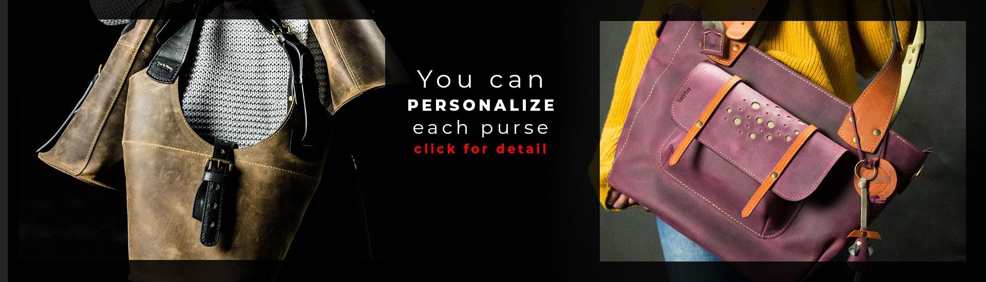 Nous renversons le mythe selon lequel il n'y a pas de sac parfait! Grâce à notre option de personnalisation, vous pouvez acheter un sac qui dépassera vos besoins à 100% maintenant!