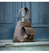 ALICJA  WITH A LONG STRAP LIGHT BROWN