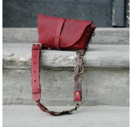Duża nerka / torebka na ramię Malinowa