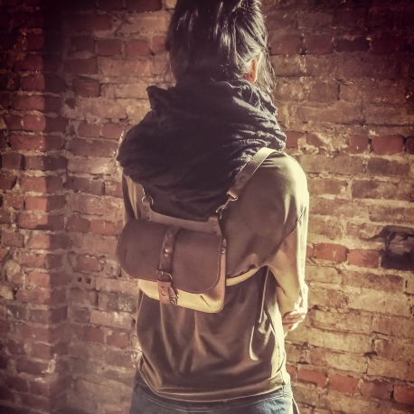 Listonoszka skórzana / plecaczek Molly